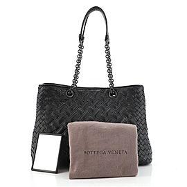 Bottega Veneta Double Chain Tote Studded Leather with Intrecciato Detail Medium
