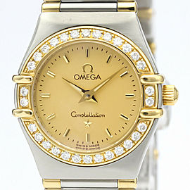 Polished OMEGA Constellation Diamond 18K Gold Steel Watch 1367.10