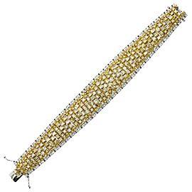 24.86 Carat Natural Yellow Diamond Bracelet