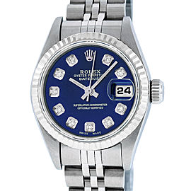 Rolex Datejust 79174 Stainless Steel & 18K White Gold wDiamond Automatic 26mm Womens Watch