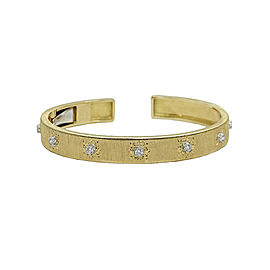 Buccellati Classica 18K Yellow Gold and Diamond Cuff Bracelet