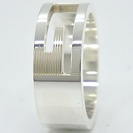 GUCCI Silver Branded G Ring