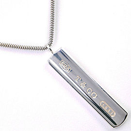 TIFFANY & Co. 925 Silver bar Necklace NST-1093