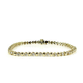"Armand Jacoby 18K Yellow Gold 6.5"" .80tcw Diamond Tennis Line Bracelet"