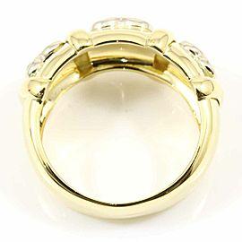 Ponte Vecchio 18K Yellow Gold Diamond Triple Heart Ring CHAT-577