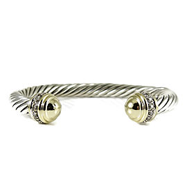David Yurman 18K Yellow Gold, Sterling Silver Diamond Bracelet