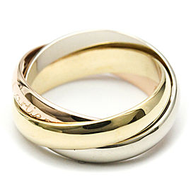 CARTIER 18K Pink Gold/18K Yellow Gold/18K White Gold Trinity TriColor Ring