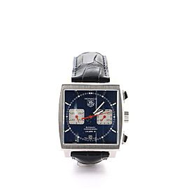 Tag Heuer Monaco Calibre 12 Chronograph Automatic Stainless Steel and Alligator Watch