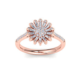 Sunflower Ring in 18K Gold With 0.43ct White Diamonds