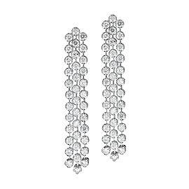 3-Strand Diamond 18K White Gold Earrings
