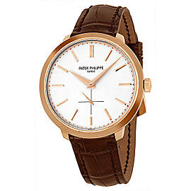 Patek Philippe Calatrava 5123R-001 18K Rose Gold & Leather 38mm Watch