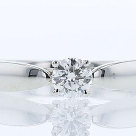 TIFFANY & Co. 950 Platinum Harmony D0.24ct VS1 3EX NONE diamond Ring US 4.75 :LXGoods-223