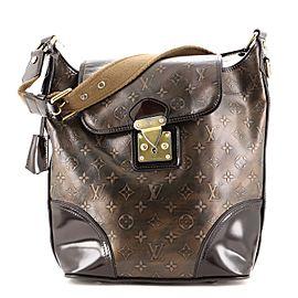 Louis Vuitton Sergeant Handbag Limited Edition Monogram Embossed Leather GM