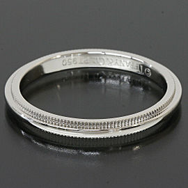Tiffany & Co. 950 Platinum Milgrain Wedding Band Ring US 6