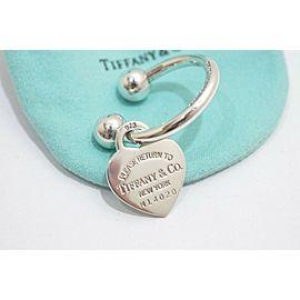 Tiffany & Co. Sterling Silver Return To Tiffany Heart Keyring