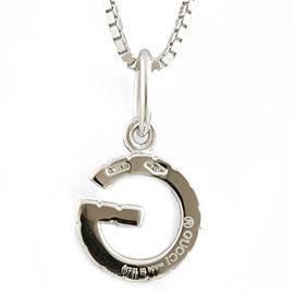GUCCI 18k white gold 17 stones Venetian Chain G logo Necklace