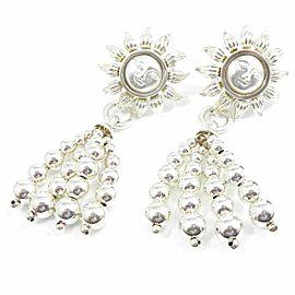 Tiffany & Co. Sterling Silver Sun Omegaback Pierced Earrings CHAT-174