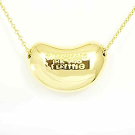 Tiffany & Co. 18K Yellow Gold Bean Necklace Pendant CHAT-196