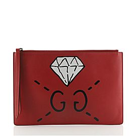 Gucci Zipped Pouch GucciGhost Leather Medium