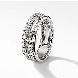 David Yurman The Crossover Collection Ring with Diamonds