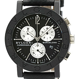BVLGARI BB38CLCH Carbon, 18K White gold Chronograph Watch