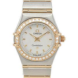 OMEGA Constellation 1267.75 Diamond Bezel SS/K18 Quartz Ladies Watch
