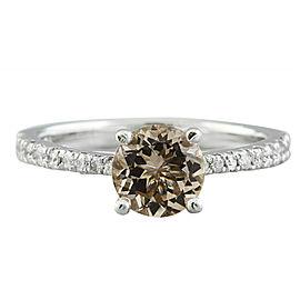 1.30 Carat Morganite 14K White Gold Diamond Ring