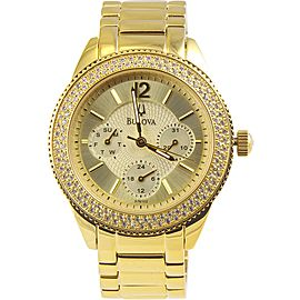 Bulova Crystal 97N102 38mm Womens Watch