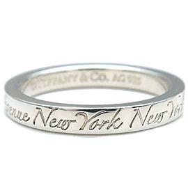 Tiffany & Co. Silver Notes Narrow New York Ring