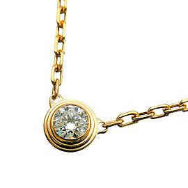 Cartier Diamants Légers Necklace SM 1P Diamond 0.09ct Yellow Gold