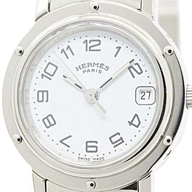 Hermes Clipper Stainless Steel Quartz Womens Watch