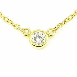 iffany & Co. 18K Yellow Gold Diamond By The Yard Necklace Pendant CHAT-208