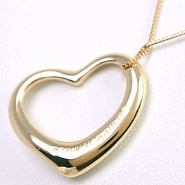 TIFFANY & Co K18 yellow gold Open heart Necklace NST-46