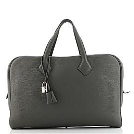 Hermes Victoria II Travel Handbag Clemence 43