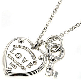 TIFFANY & Co. Silver Return to Love Heart Key Necklace