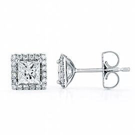 18K White Gold 1.30ctw. Diamond Earrings