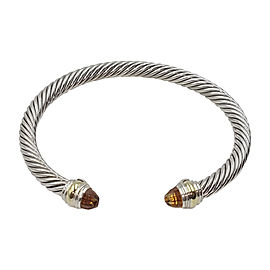 David Yurman Cable Sterling Silver 14K Yellow Gold Citrine Bracelet