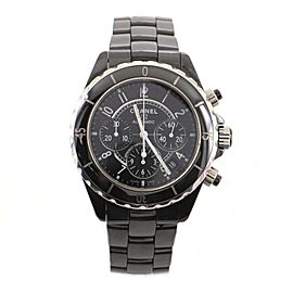 Chanel J12 Chronograph Automatic Watch Ceramic and Stainless Steel 41