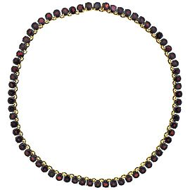 Garnet Gold Riviera Necklace
