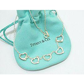 Tiffany & Co. Sterling Silver Elsa Peretti 5 Open Heart Necklace \