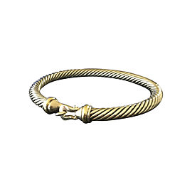 David Yurman Sterling Silver and 18K Yellow Gold Bangle Bracelet