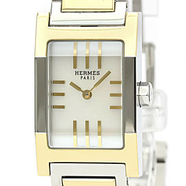 HERMES Tandem Gold plated, Stainless steel MOP Dial Quartz Watch