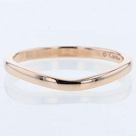 CARTIER 18k pink gold Ballerina Curve Wedding Ring TBRK-623