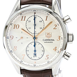 TAG HEUER Carrera Heritage Calibre 16 Chronograph Steel Watch CAS2112