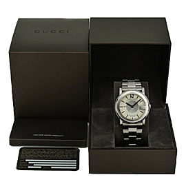 GUCCI 101M Silver Dial Stainless Steel Quartz Men's Watch
