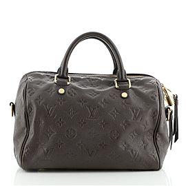 Louis Vuitton Speedy Bandouliere Bag Monogram Empreinte Leather 25