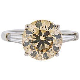 4.55 Carat Diamond Platinum Long's Engagement Ring