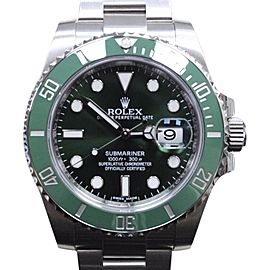 Rolex Submariner 116610 Green Ceramic Hulk Stainless Steel 40mm Mens Watch 2015
