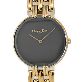 Christian Dior Bagira 46 154-2 Glack Dial GP Quartz Ladies Watch