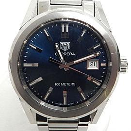 TAG HEUER Stainless Steel Carrera WBG1310 Blue Wrist Watch TBRK-348